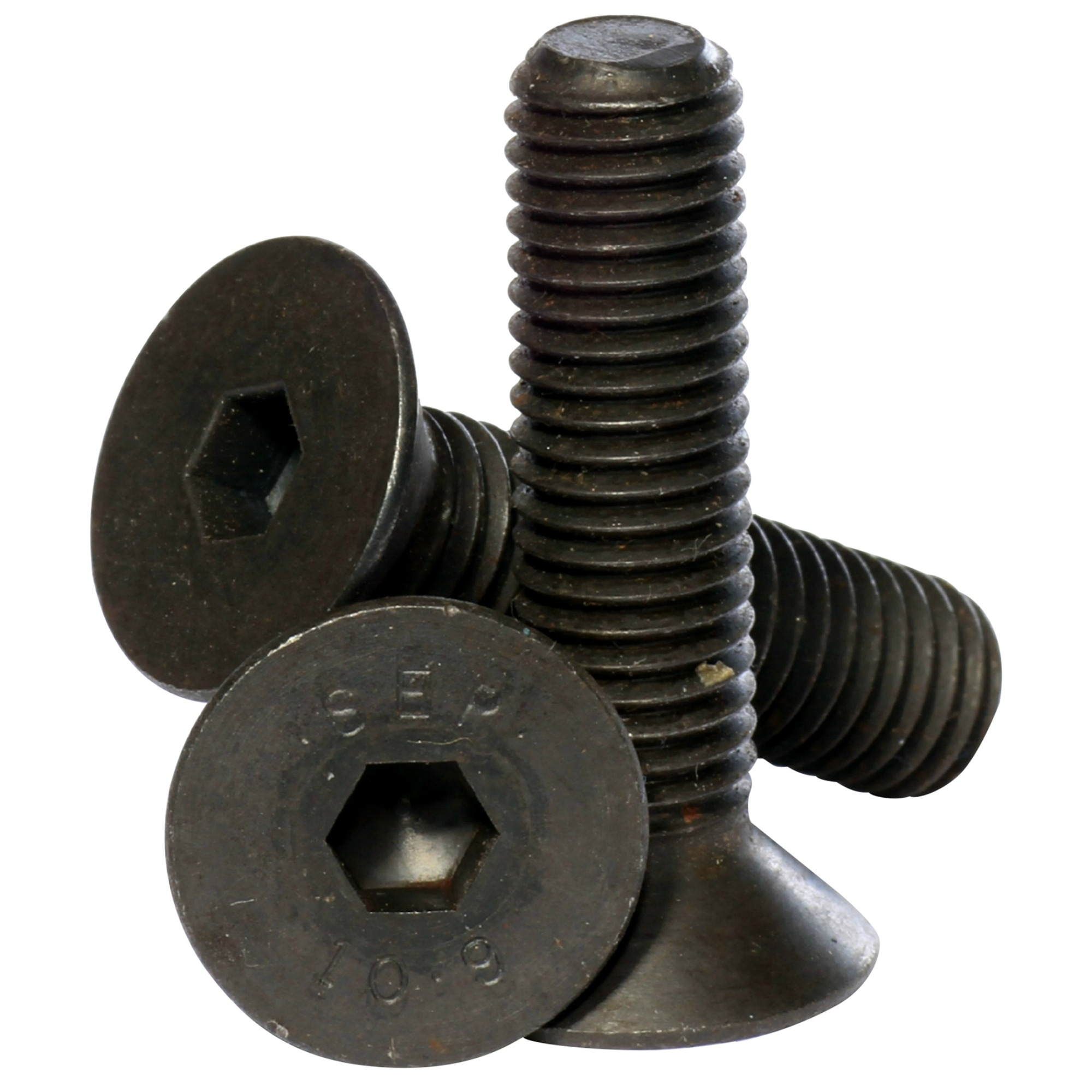 M2 M2.3 M3 M4 Socket Countersunk Screws Black Bolts DIN7991 High Tensile 10.9