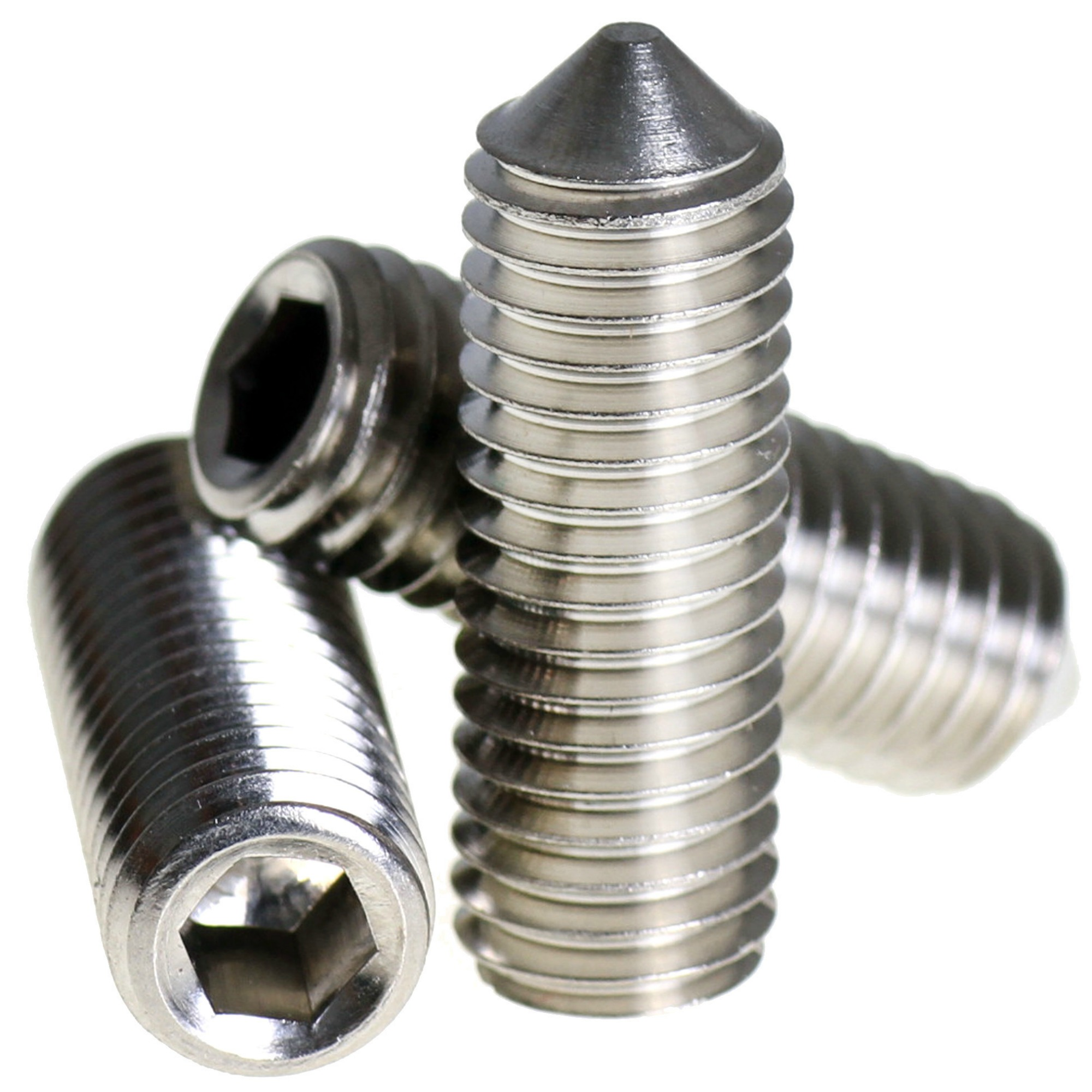 2mm x 5mm - Stainless Steel Pack of 20 Hex Bolt M2 Fully Threaded Setscrew A2